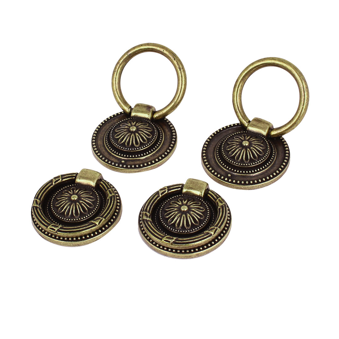 Cabinet Cupboard Drawer Door Retro Sytle Pull Handle Knob Ring 38mm Dia 4pcs