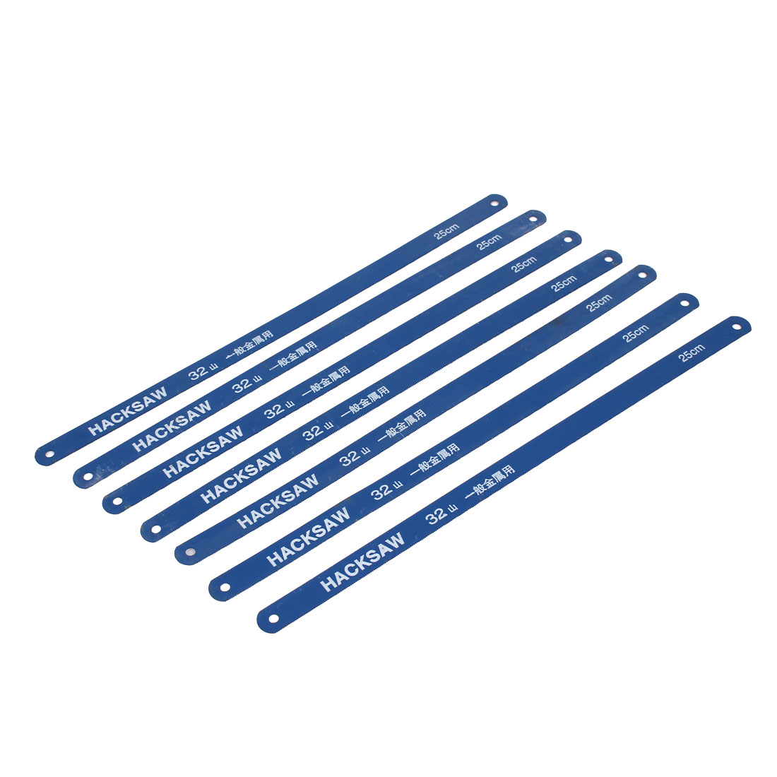 6 Pcs 250mm Working Length Carbon Steel Power Hacksaw Blades Blue 12mm x 0.6mm