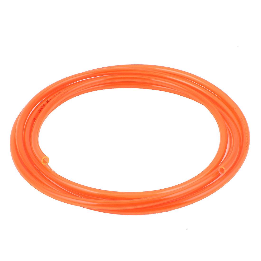 8mm x 5mm Pneumatic Air Compressor Tubing PU Hose Tube Pipe 3 meter Orange