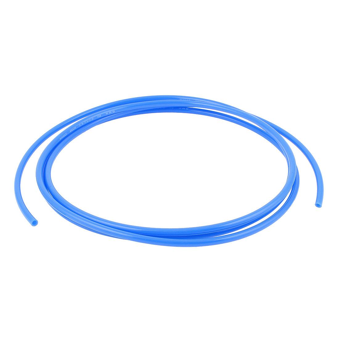 6mm x 4mm Pneumatic Air Compressor Tubing PU Hose Tube Pipe 2.5m Blue