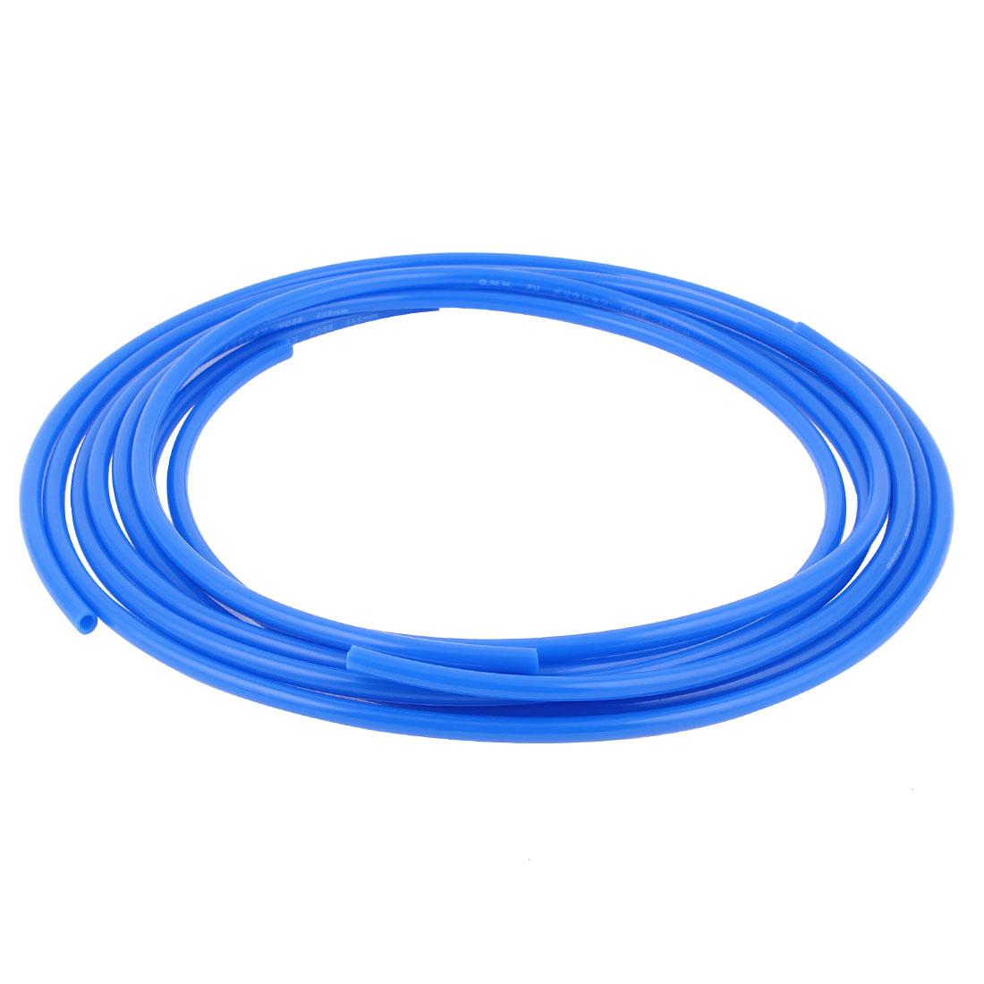6mm x 4mm Pneumatic Air Compressor Tubing PU Hose Tube Pipe 1.5m Blue 3pcs