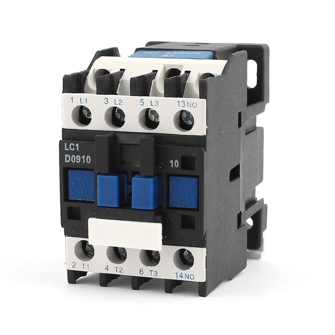 LC1-D0910 24V Coil 3 Poles 1NO Motor Controler AC Contactor