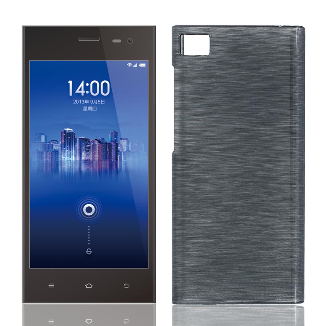 "Hard Plastic Protective Back Case Cover Shield Grey for XiaoMi3 MI3 M3 5.5"""