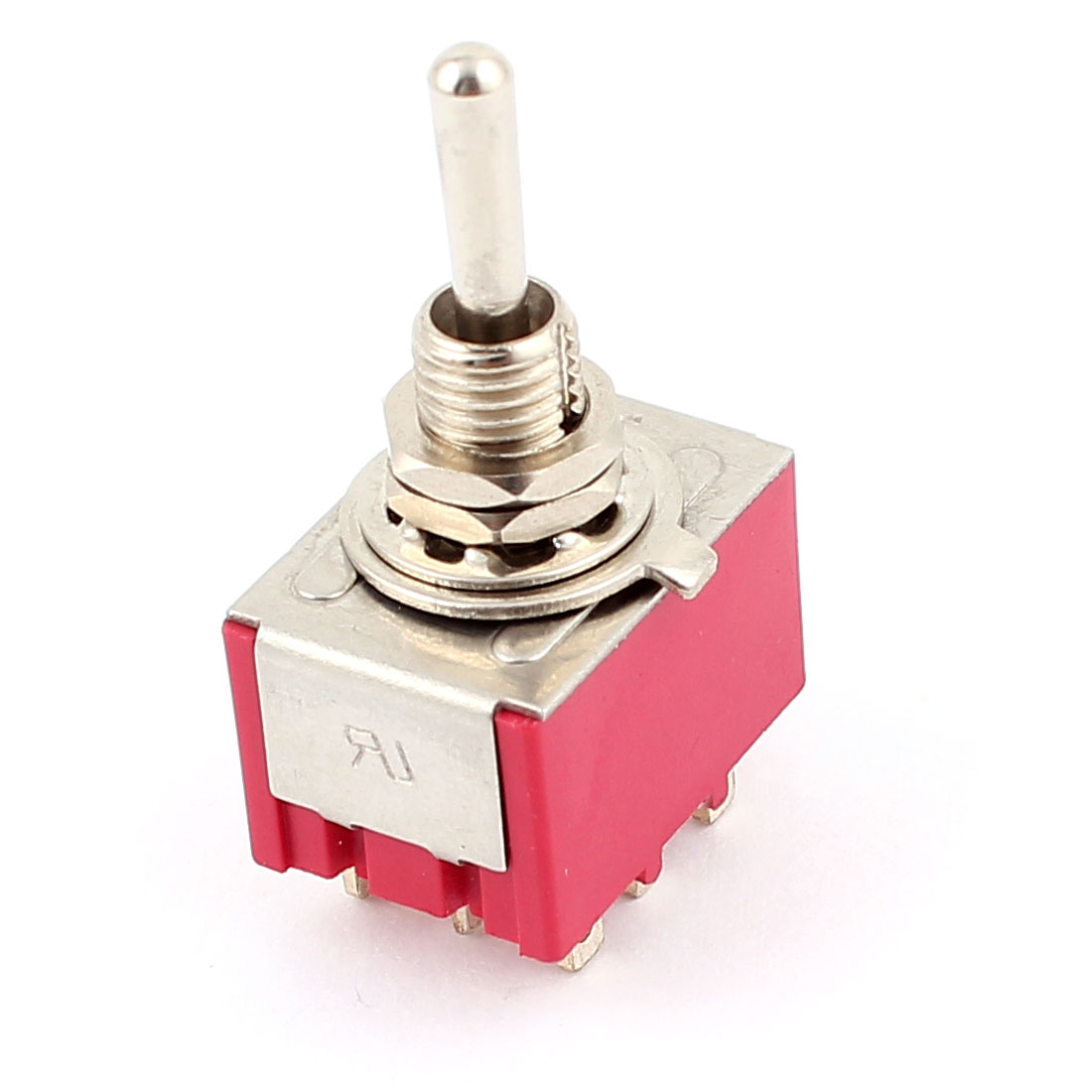 AC 250V/2A 125V/5A 9Pin 6mm Mounting Thread 3PDT ON-OFF-ON Locking Toggle Switch
