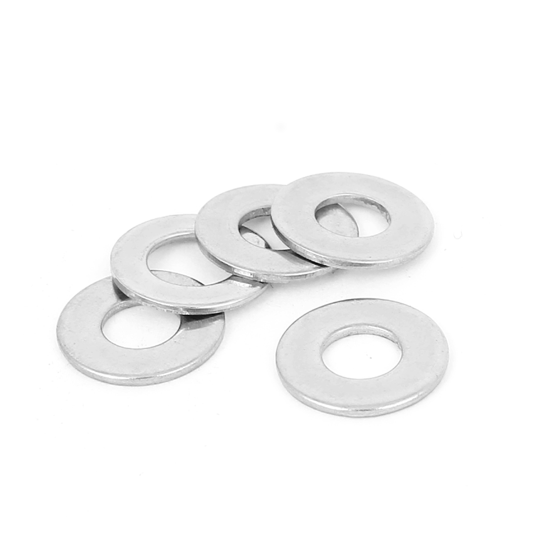 5 Pcs 304 Stainless Steel Flat Washer M6 x 12mm x 1mm for Screws Bolts