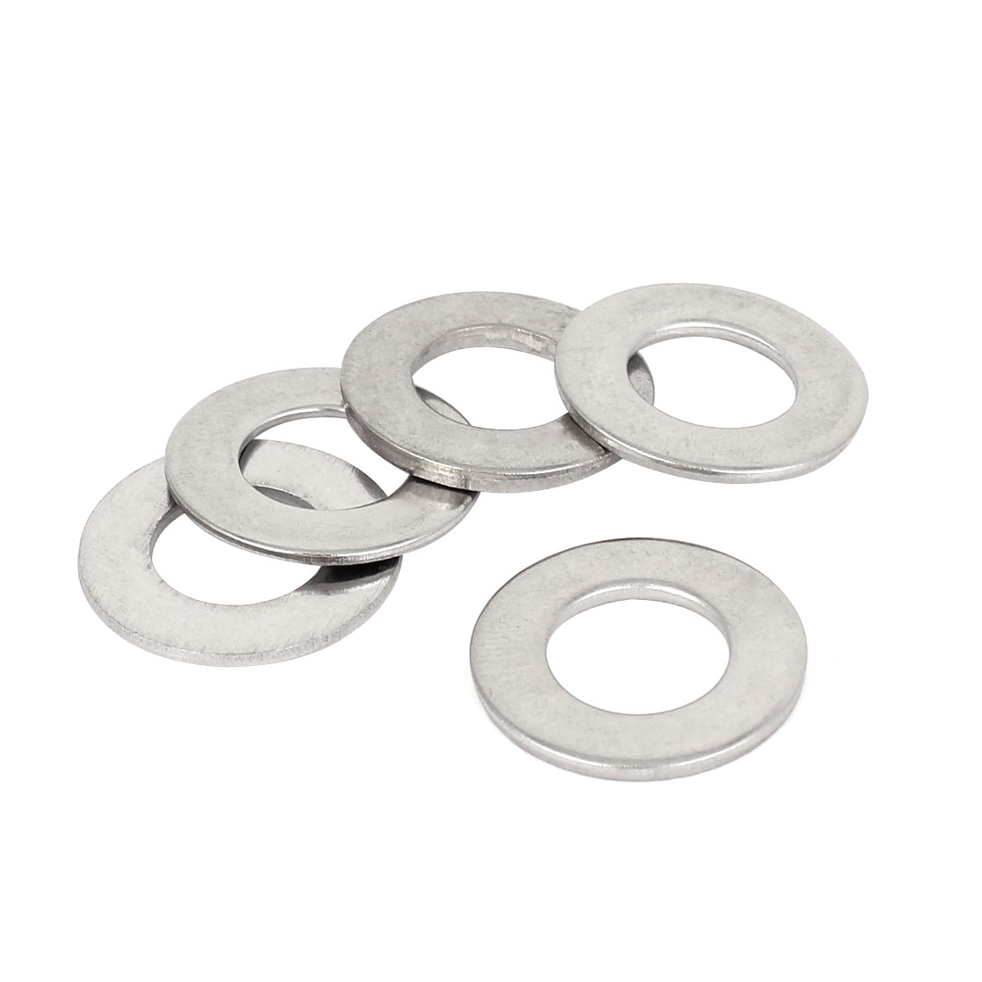 5 Pcs 304 Stainless Steel Flat Washer M10 x 20mm x 1.5mm for Screws Bolts