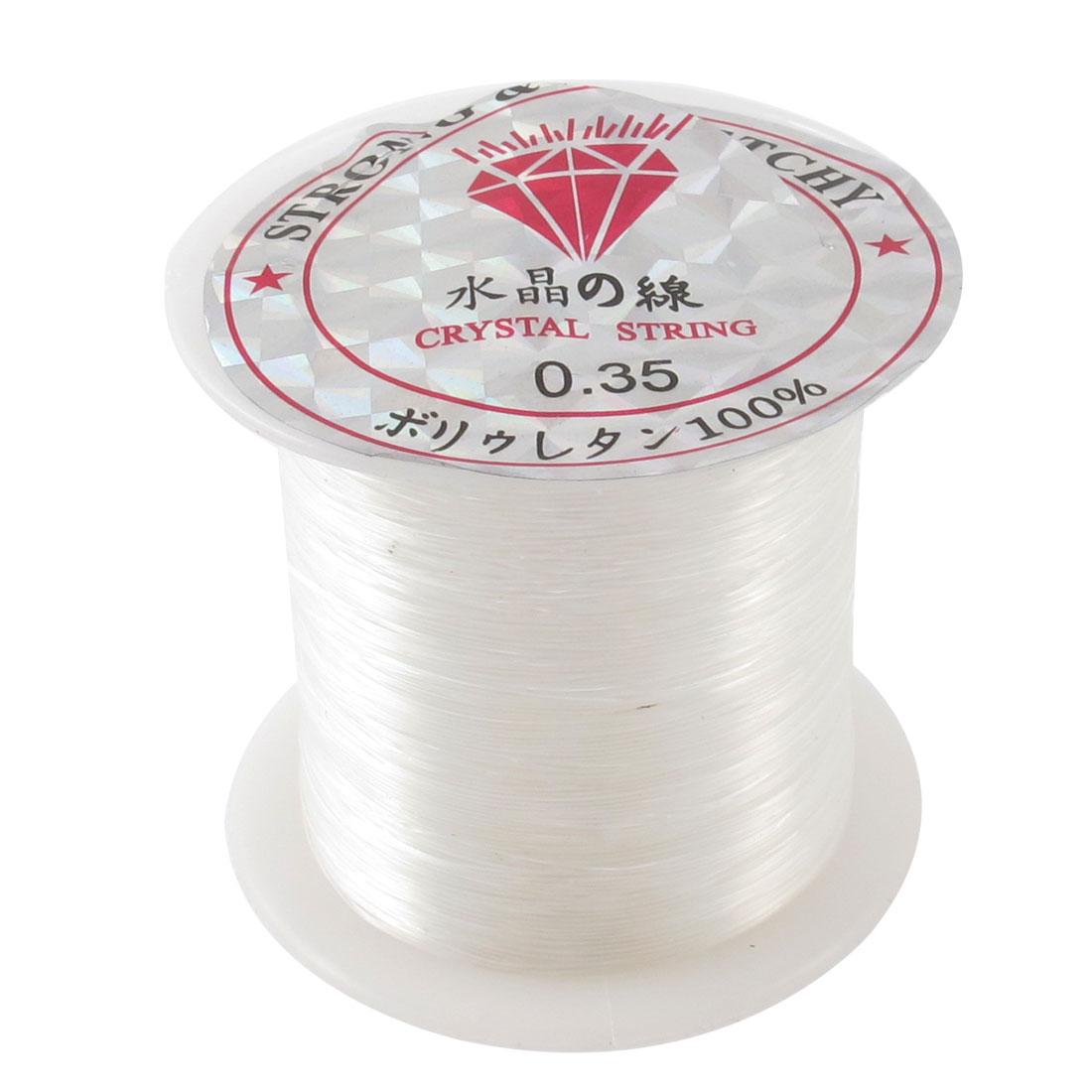 Clear 0.35# Beading Thread Anklet Bracelet Fishing Nylon Line Spool 48M 158Ft