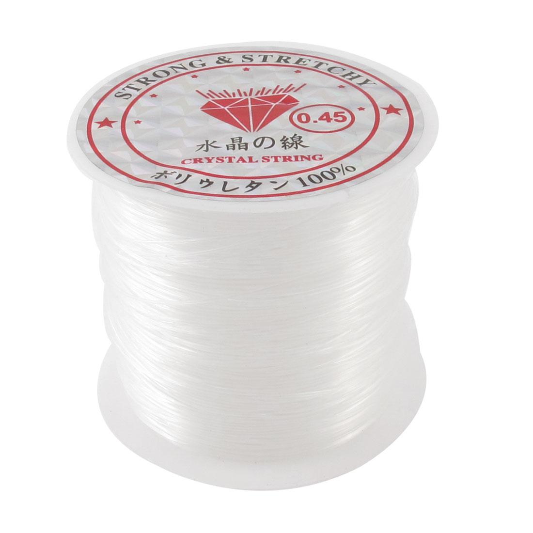Clear 0.45# Beading Thread Anklet Bracelet Fishing Nylon Line Spool 27M 88.5Ft