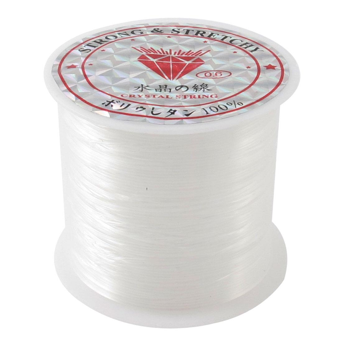 Clear 0.6# Anklet Bracelet Fishing Nylon Line Spool Beading Thread 16M 52.5Ft