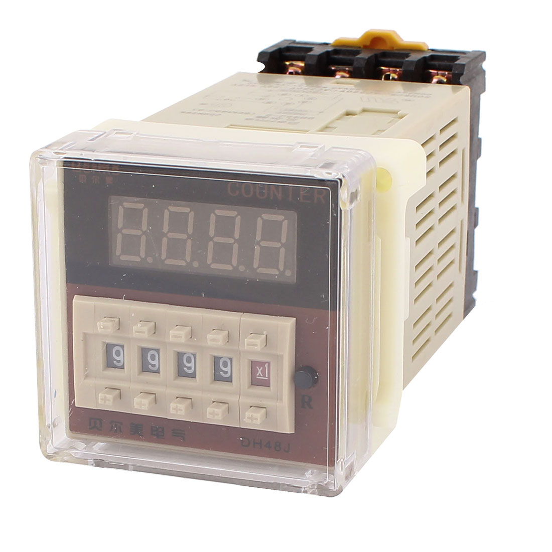 DC 12V DH48J 30 CPS Programmable Timer Digital Counter Relay w Socket
