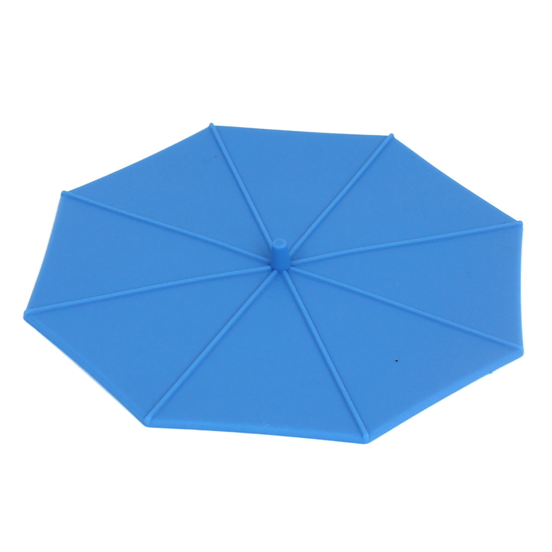 Umbrella Shape Coffe Tea Water Cup Silicone Seal Airtight Cover Cap Lip Blue