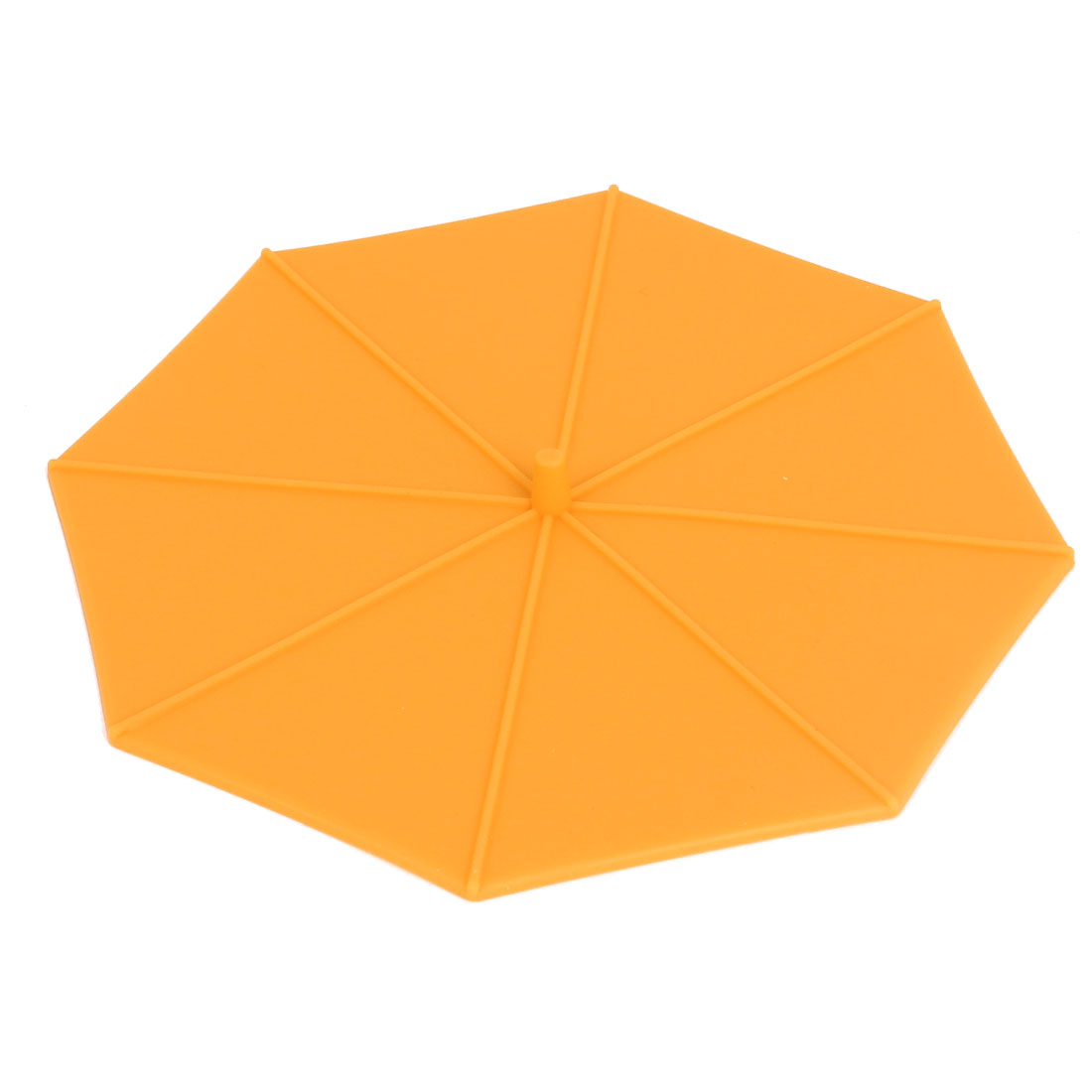 Umbrella Shape Coffe Tea Water Cup Silicone Seal Airtight Cover Cap Lip Orange