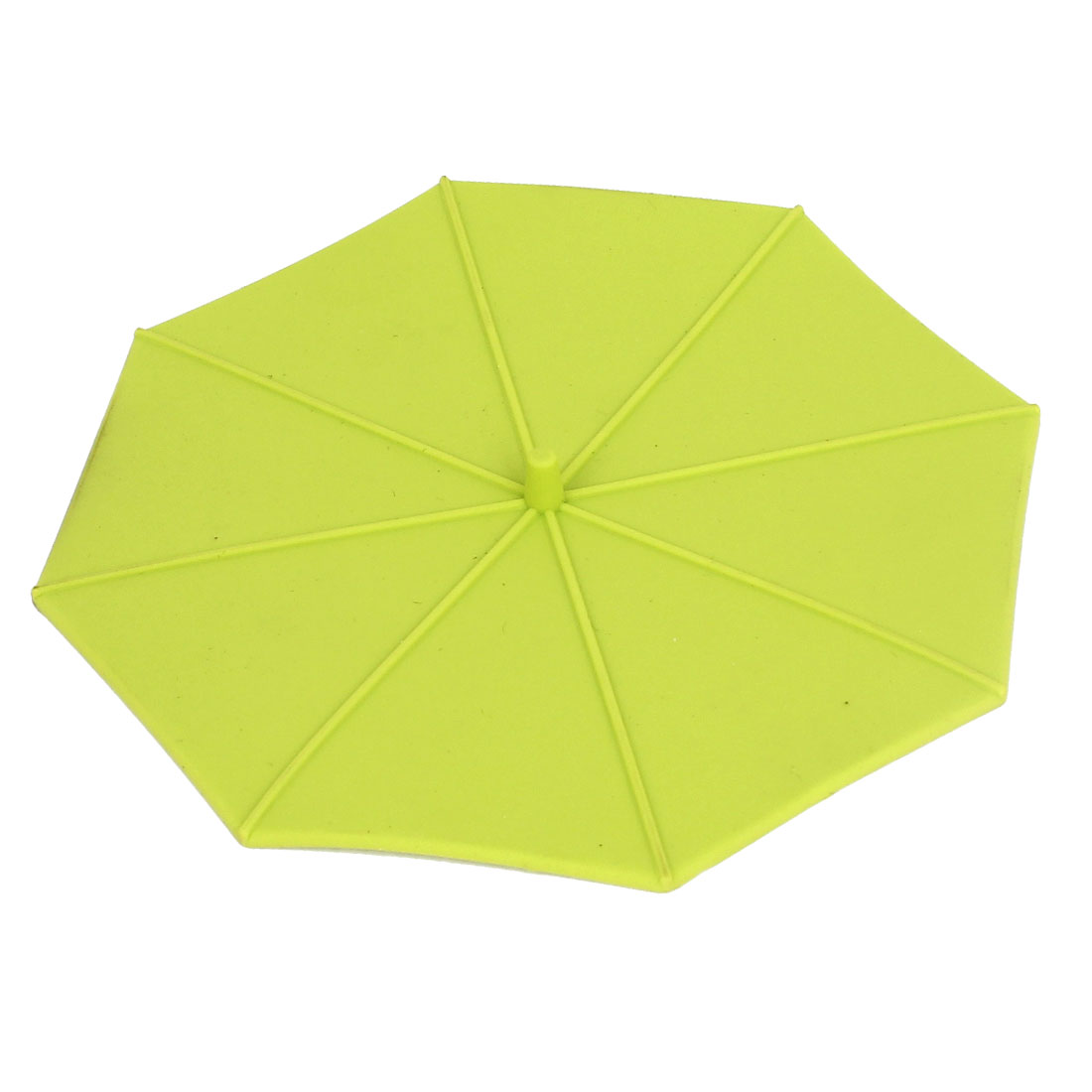 Umbrella Shape Coffe Tea Water Cup Silicone Seal Airtight Cover Cap Lip Green