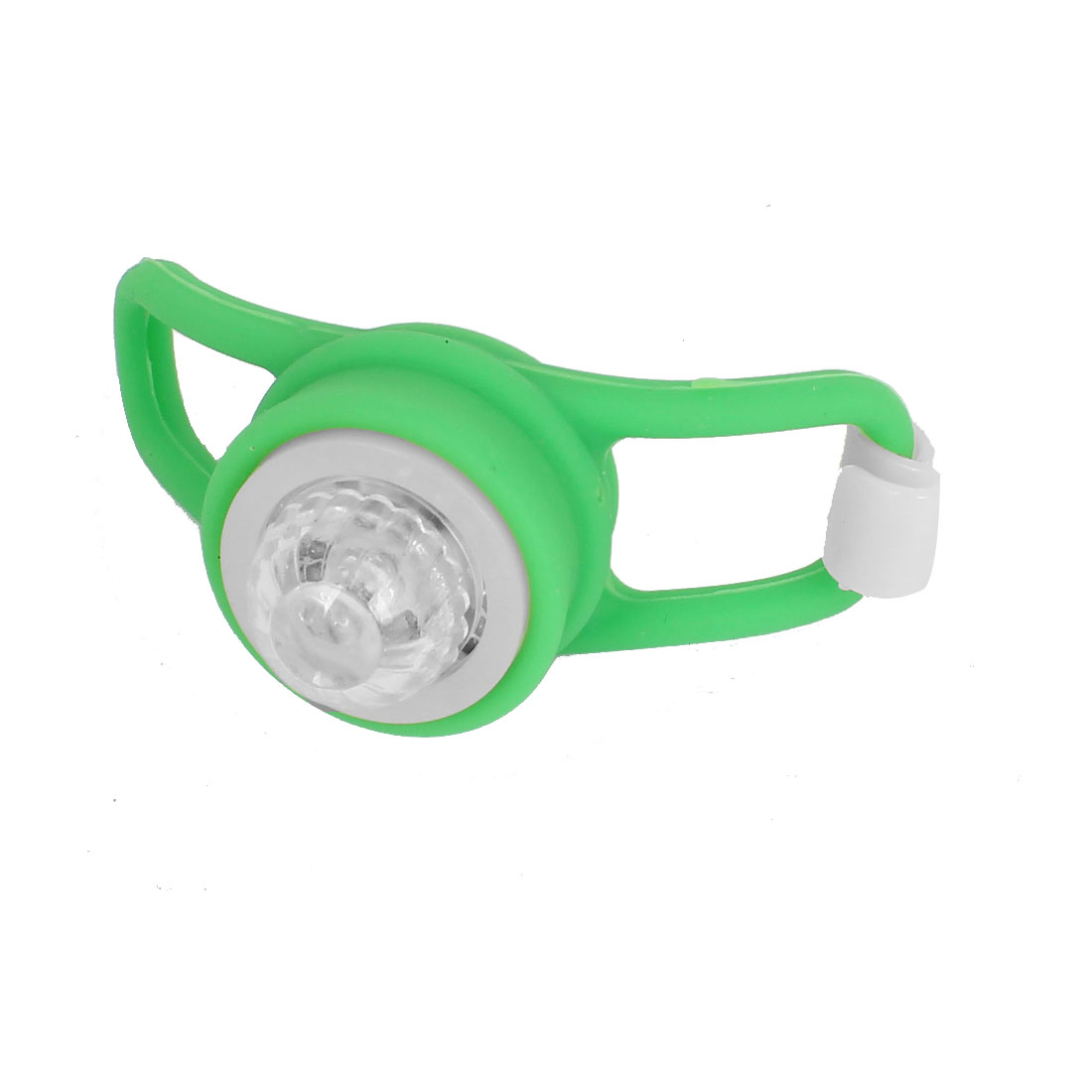 Bicycle Mountain Bike Cycle Silicone Flash Colorful LED Light Lamp Green