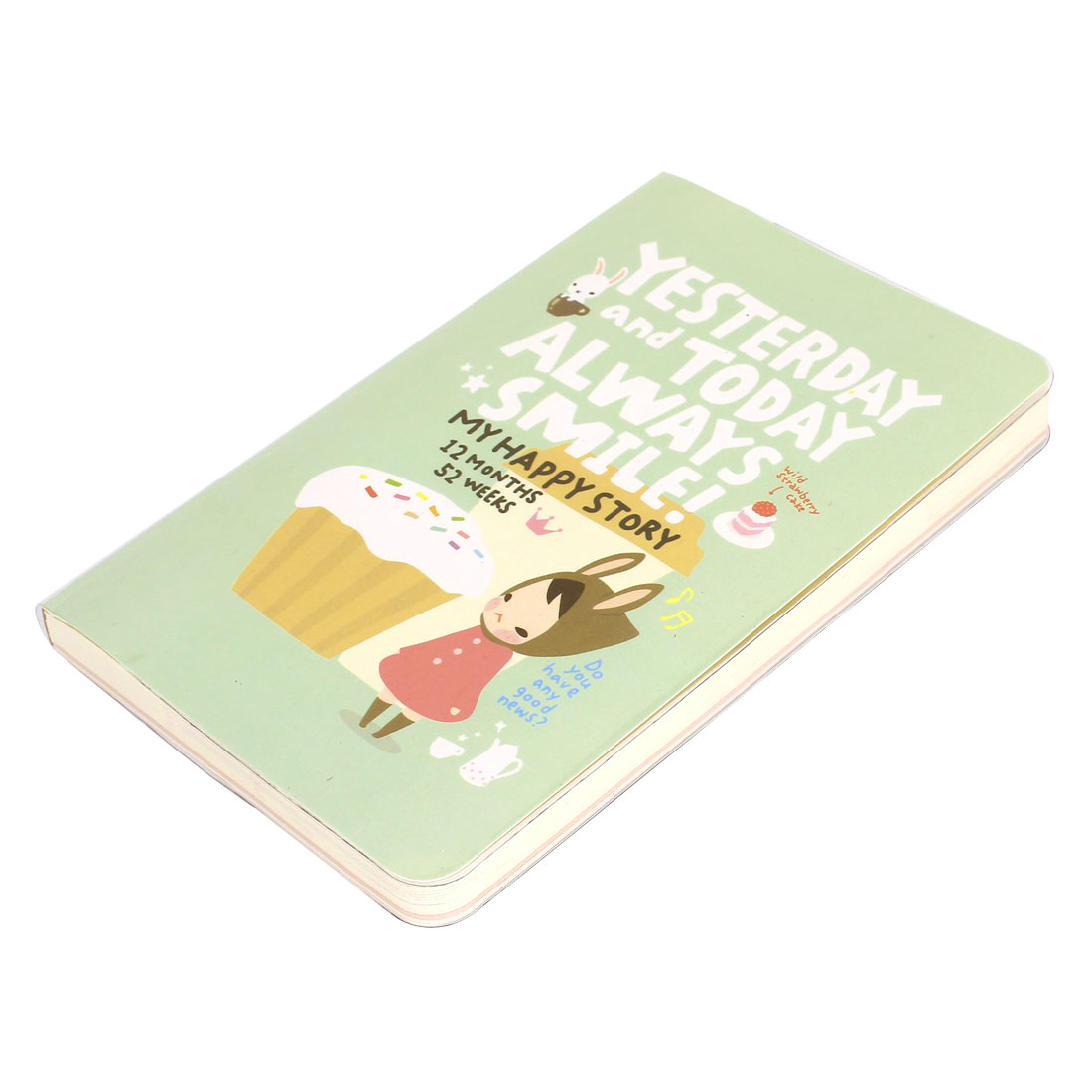 Cartoon Pattern Assorted Color Paper Diary Memo Notepad Notebook 192 Sheets