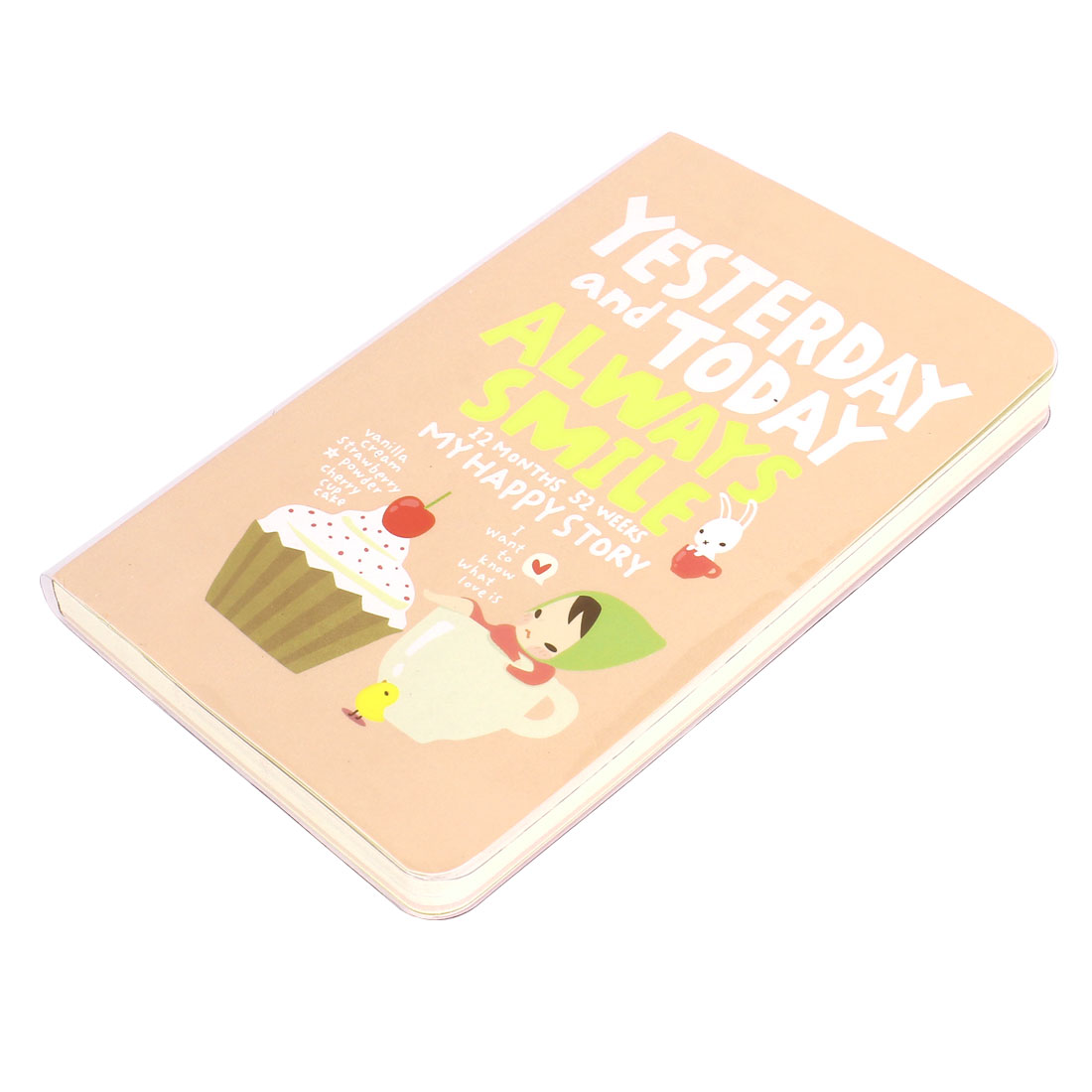Cartoon Pattern Beige Paper Jotter Book Notepad Notebook 192 Sheet