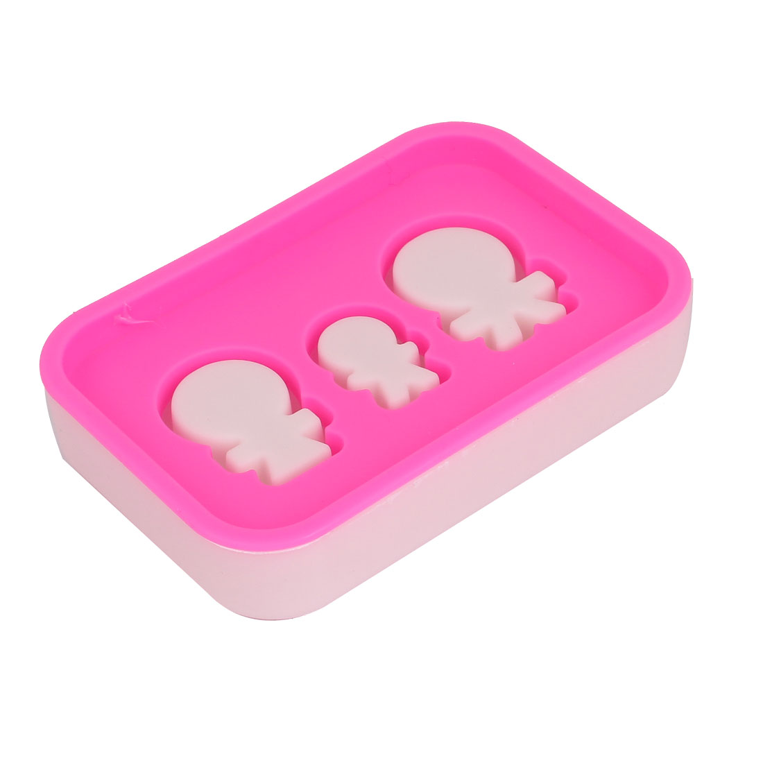 Travel Plastic Double Layer Soap Dish Container Holder Box Case White Fuchsia