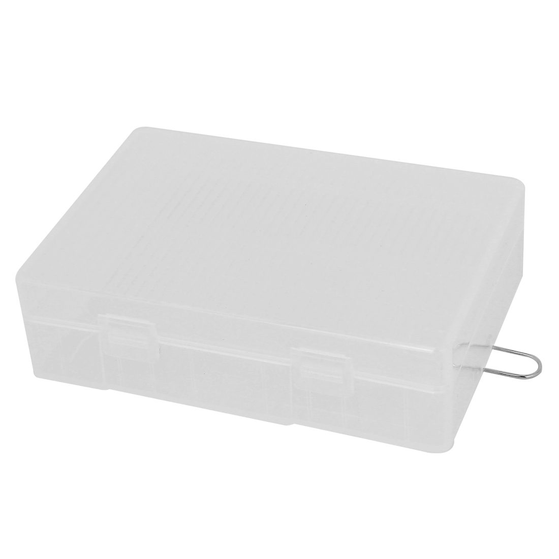 Clear Plastic Storage Box Case Holder for 4 x AA Battery Batteries