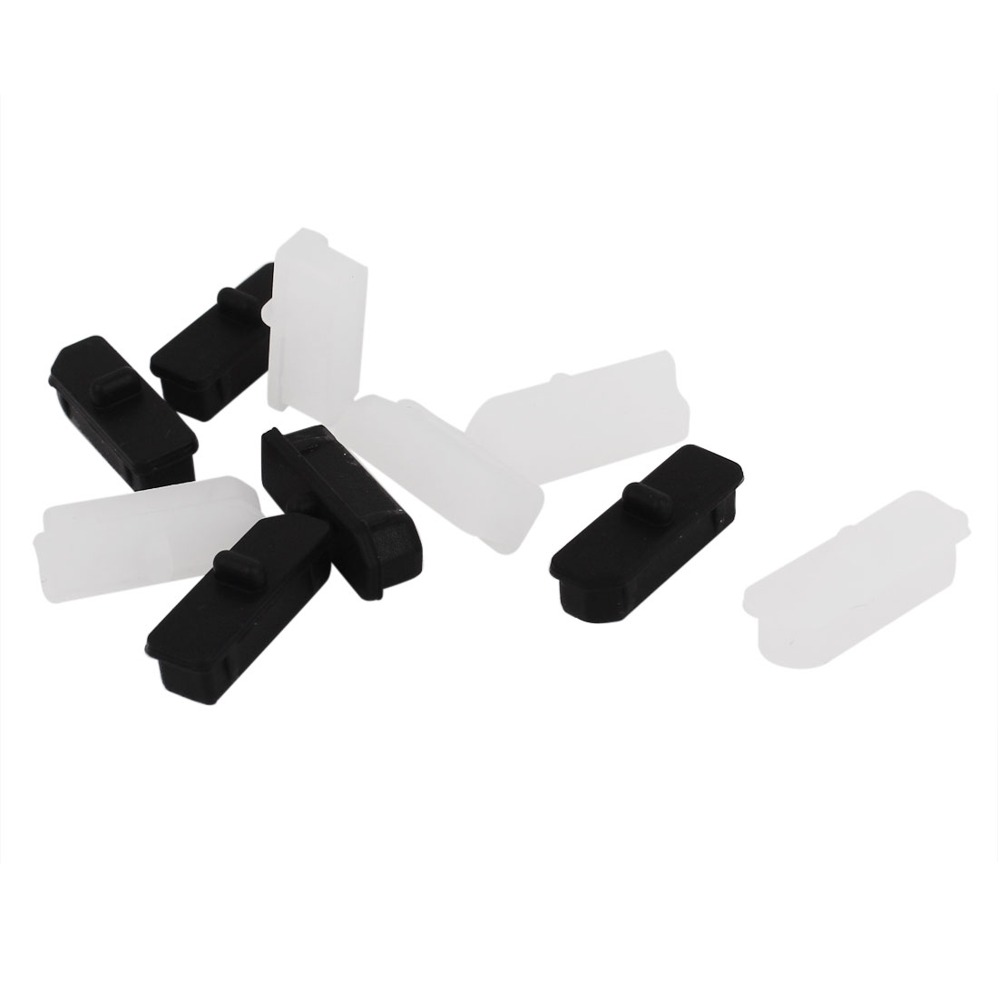 10 Pcs White Black Silicone Anti Dust Display Port Cover Cap Protector
