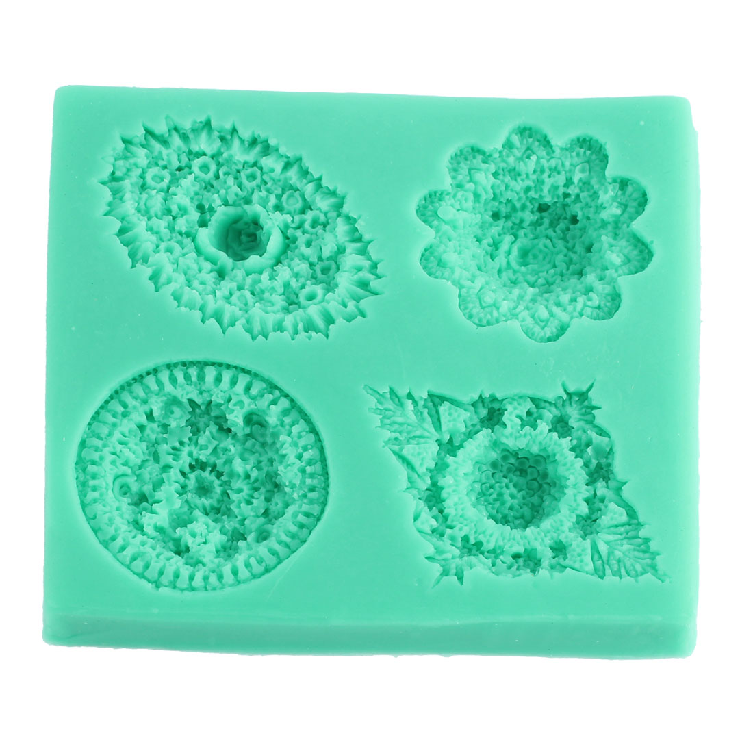 Flower Shape Fondant Cake Chocolate Sugar Craft Mold Cutter Blue Silicone Tools DIY