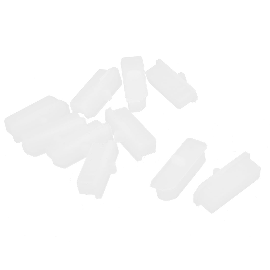 10 Pcs White Silicone Anti Dust Cover Cap Protector for Display Port