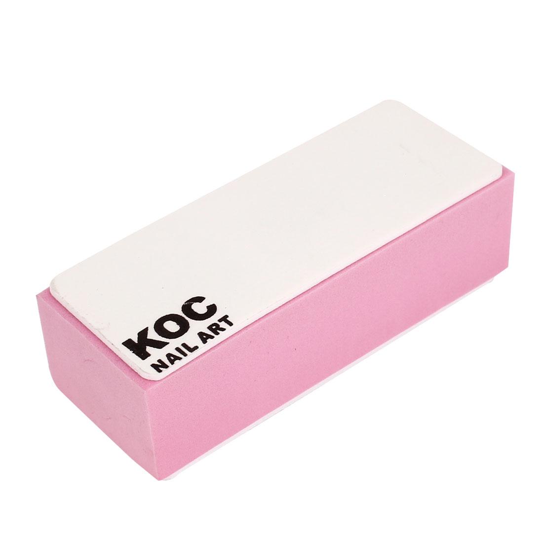 Women Nail File Sanding Buffer Block Acrylic Manicure Art Tips Polish Tool Pink