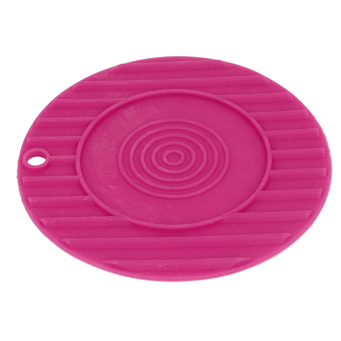 Fuchsia Silicone Cup Bowl Drinks Holder Pad Mat Coaster Tableware Placemat