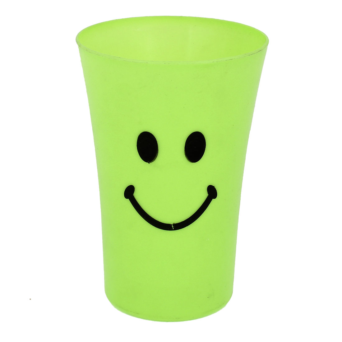 Bathroom Green Plastic Smile Pattern Gargle Toothbrush Toothpaste Cup Mug