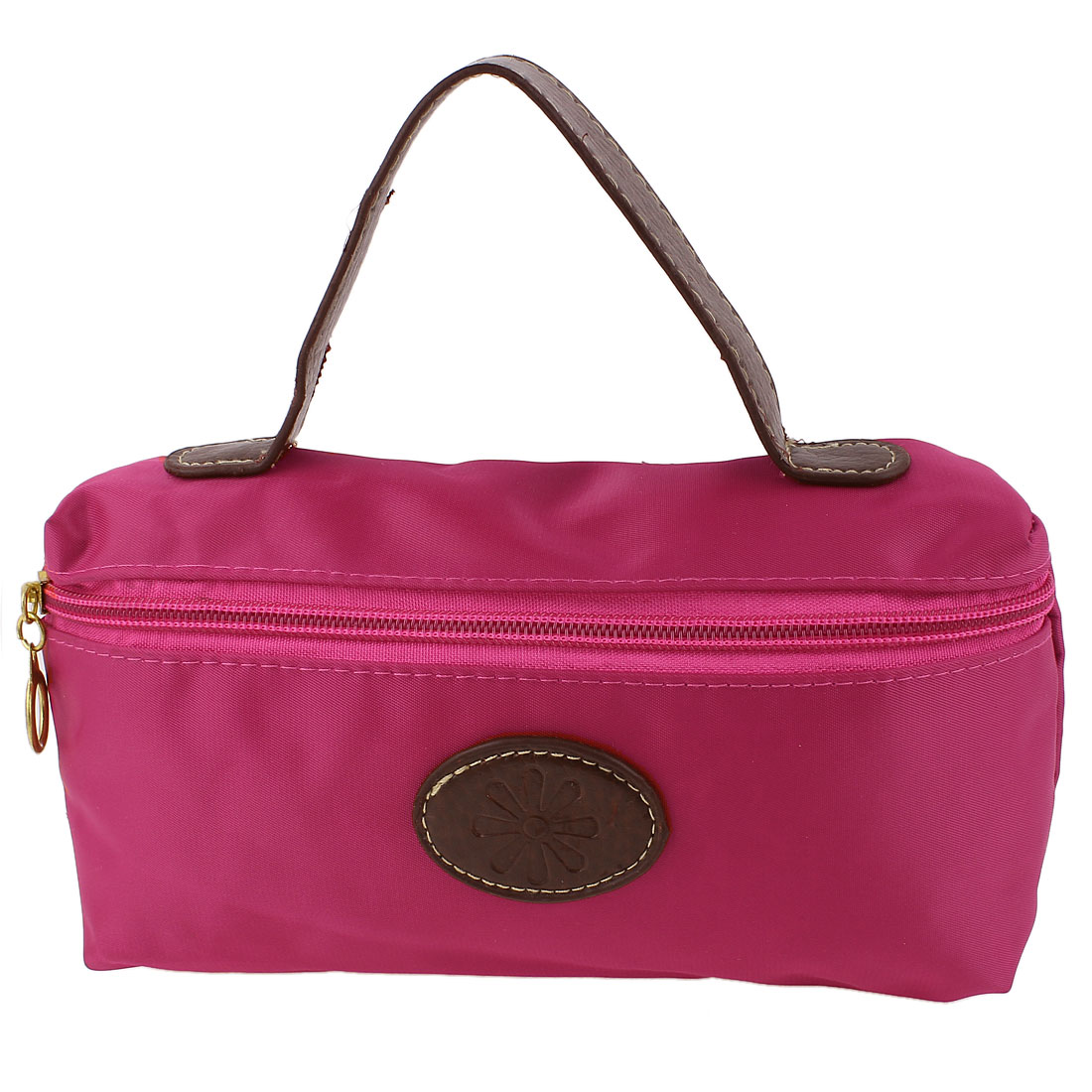 Lady Money Cell Phone Makeup Holder Hand Strap Cosmetic Bag Pouch Fuchsia