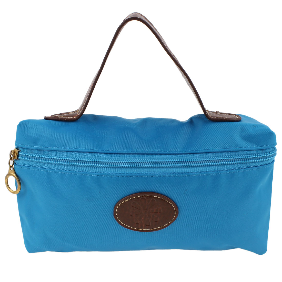 Lady Money Cell Phone Makeup Holder Hand Strap Cosmetic Bag Pouch Blue