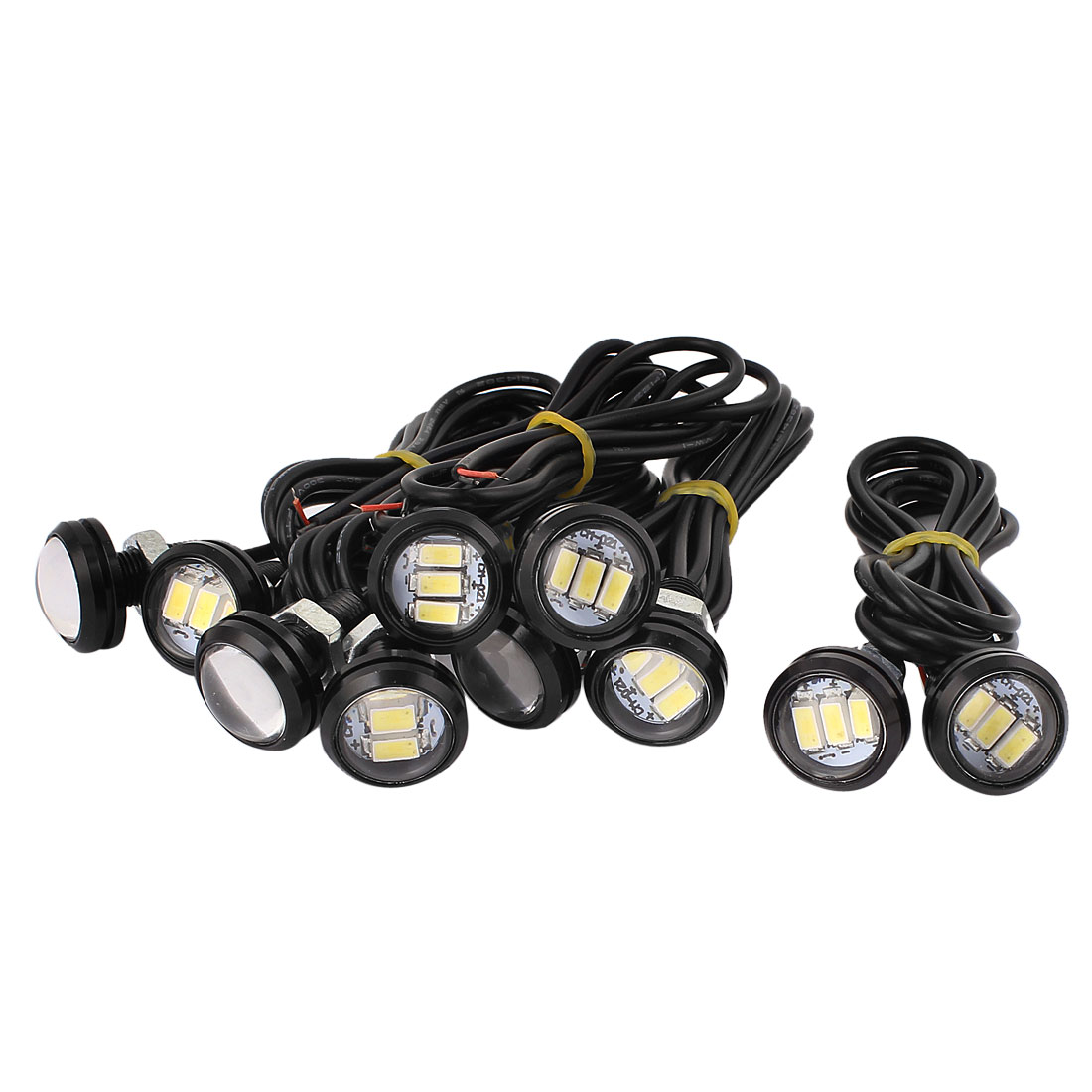 10 Pcs Eagle Eye 5630-SMD 3-LED White Light LED Daytime Running Tail Signal Light for Car Motor