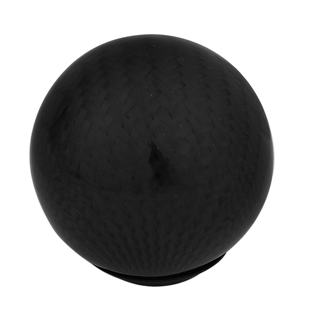 Auto Car Aluminum Base Black Carbon Fiber Ball Gear Shift Knob Head 15mm Dia