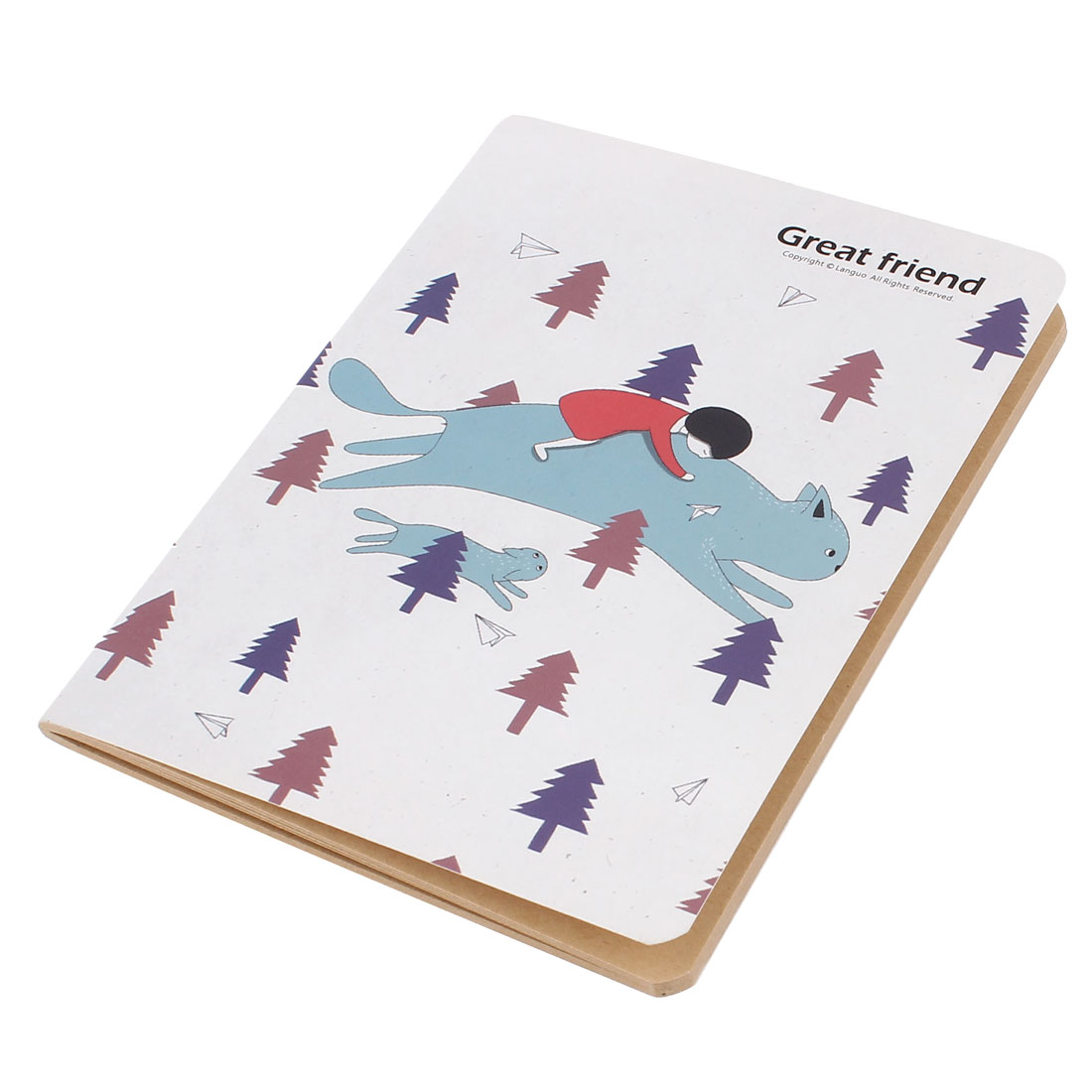 Cartoon Pattern Yellow Paper Diary Memo Notepad Notebook 48 Pages