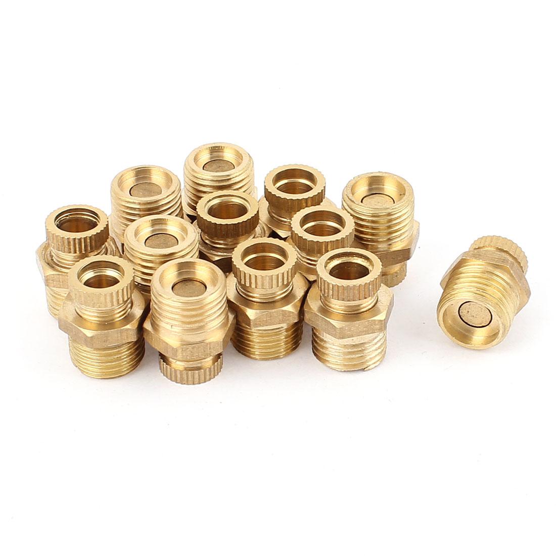 Air Compressor 13mm 1/4BSP Male Thread Metal Water Drain Valve Gold Tone