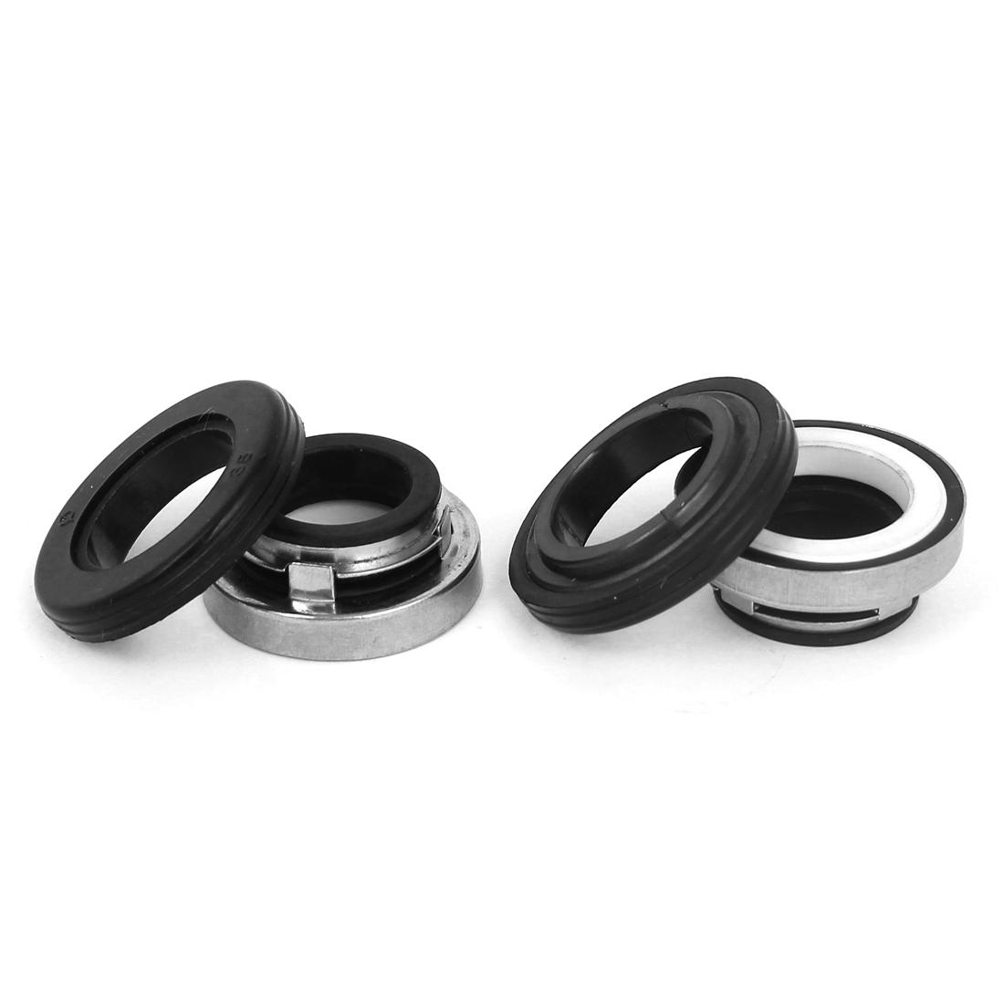 17mm Inner Dia Rubber Bellow Pump Mechanical Seal Set 2 Pcs