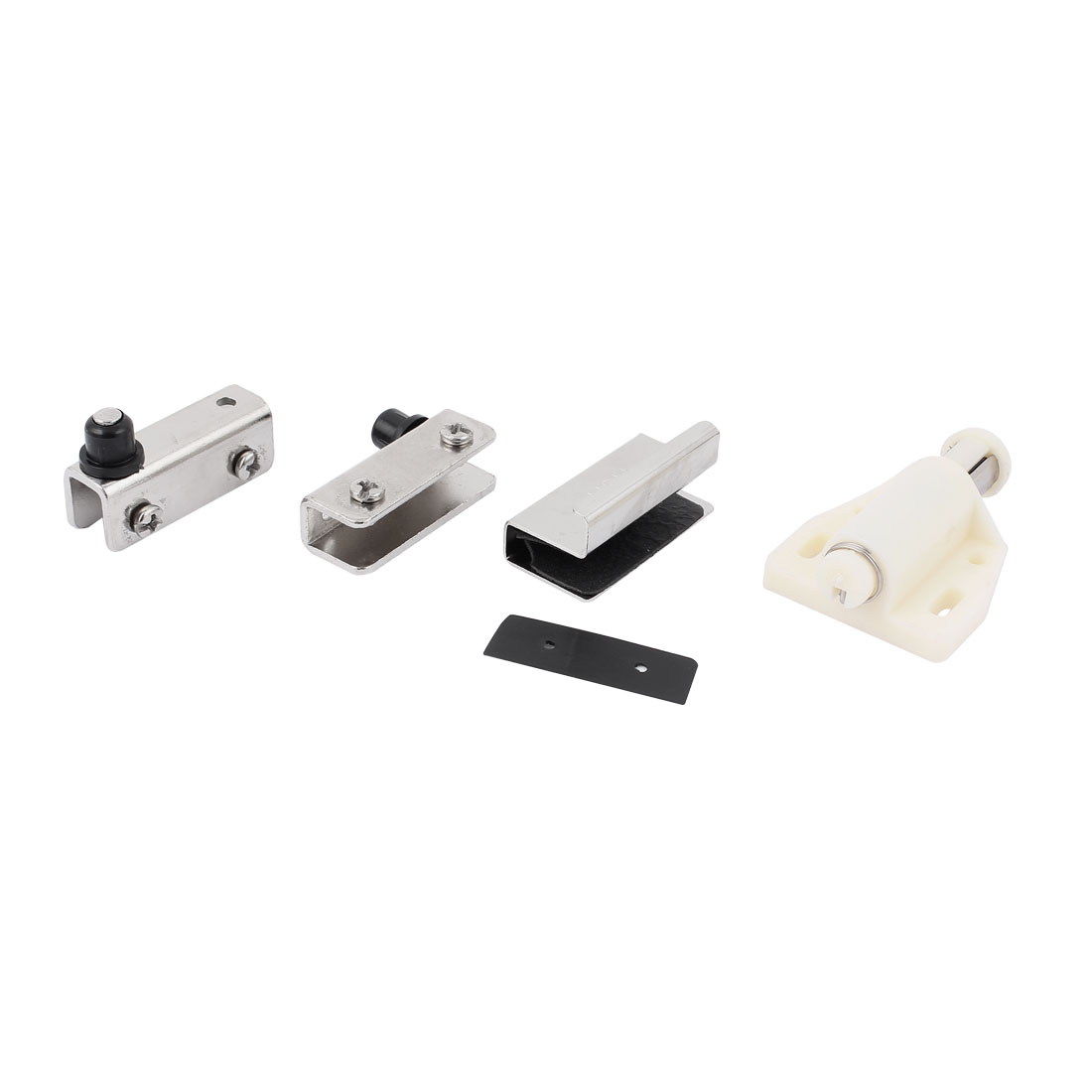White Single Head Magnetic Catch Latch Clips Set for Showcase Glass Door