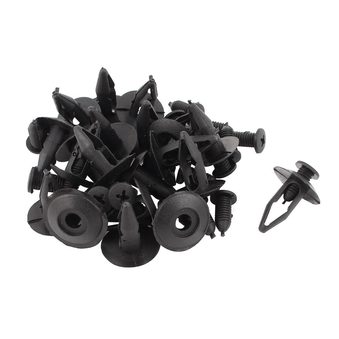 20 Pcs Black Plastic Rivets Fastener Clip 8mm x 20mm x 20mm for Car Bumper