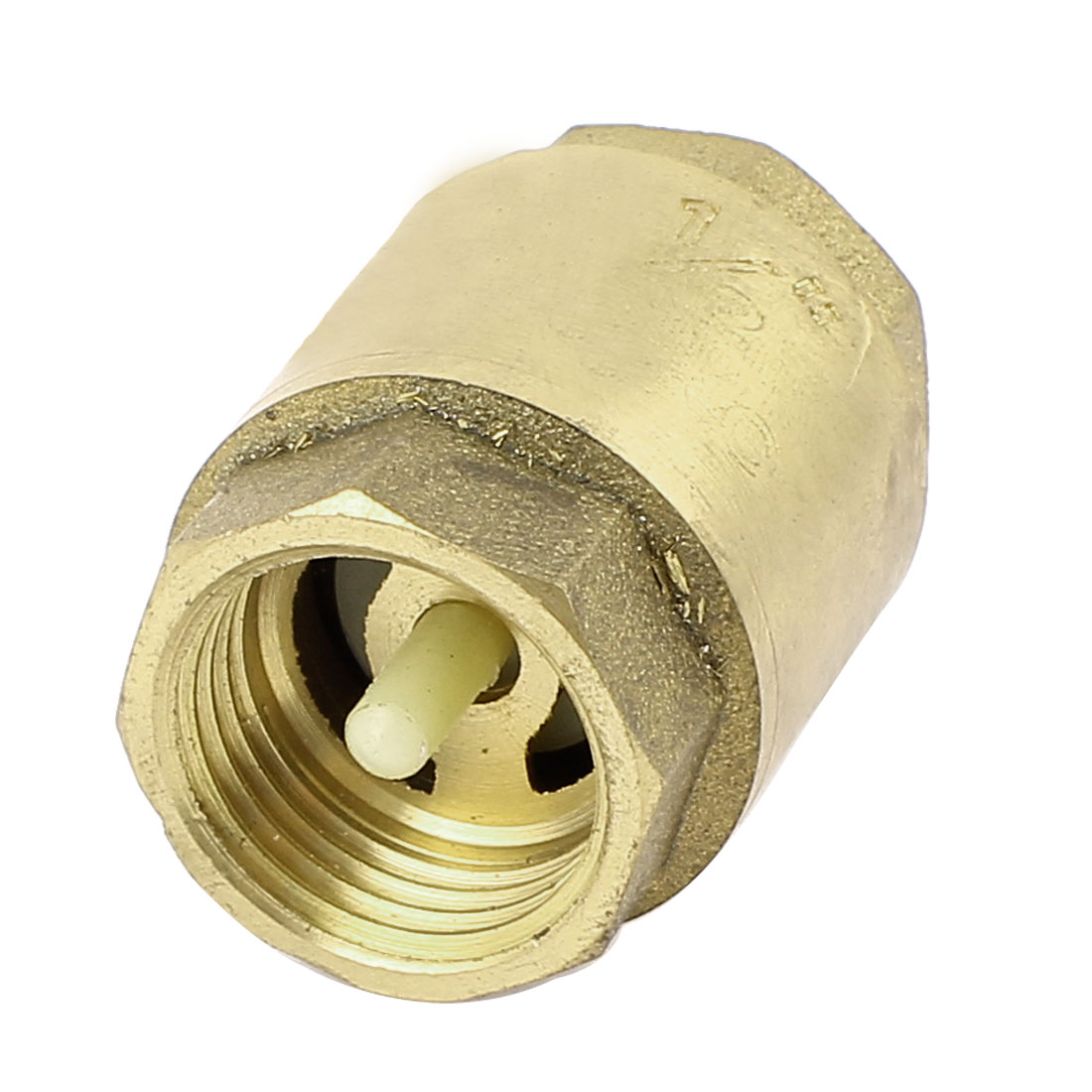 Vertical Style 19mm 1/2 BSP Female Thread Brass Non Return Spring Check Valve