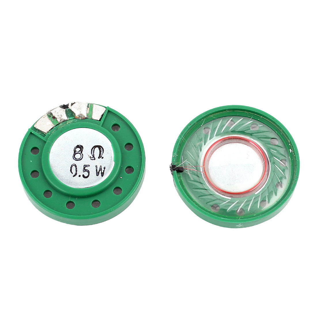 2pcs 0.5W 8Ohm External Magnetic Magnet Electronic Speaker Loudspeaker 29mm