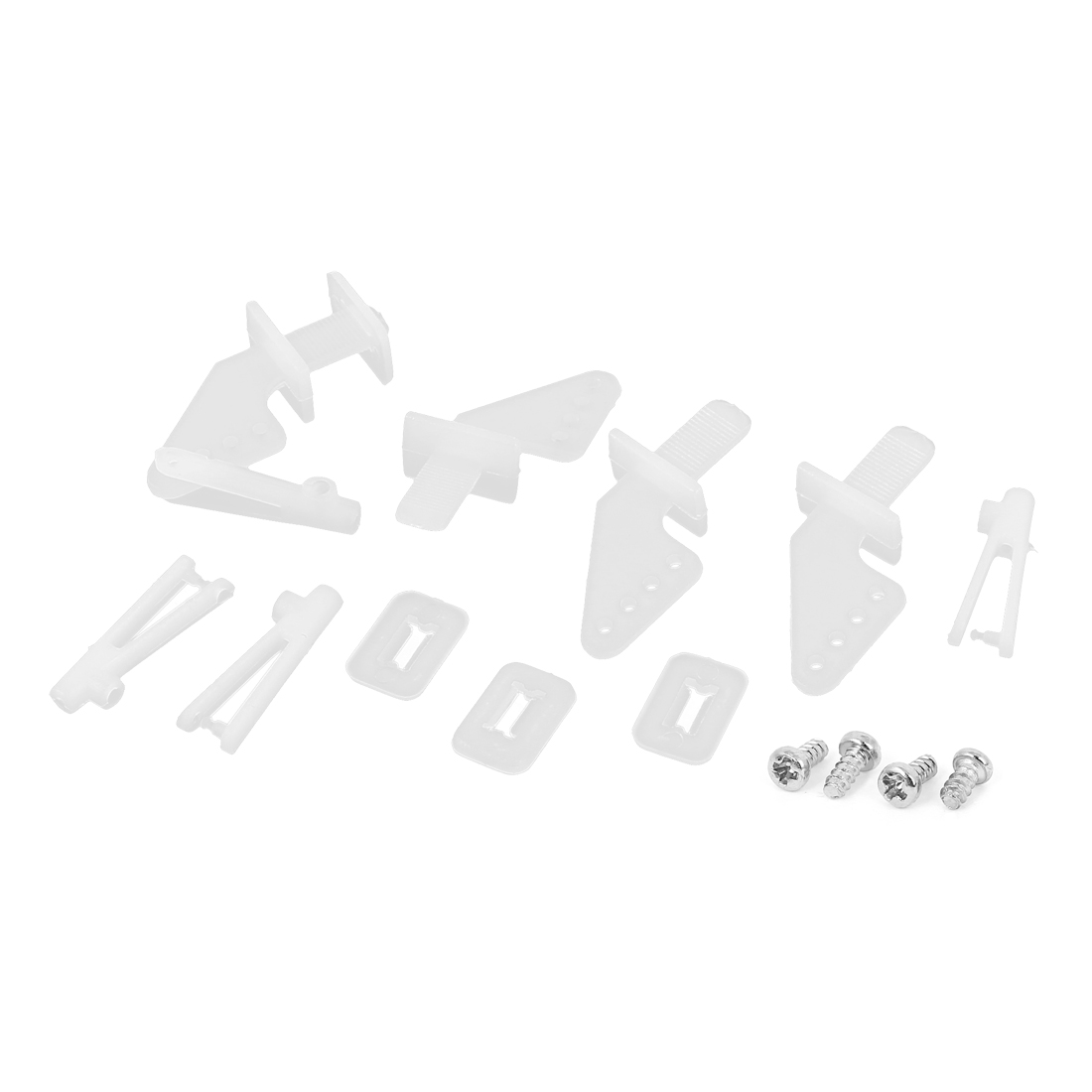 4 Set of White Nylon 4Holes Control Horns for RC Model Toy Plane Car Servo