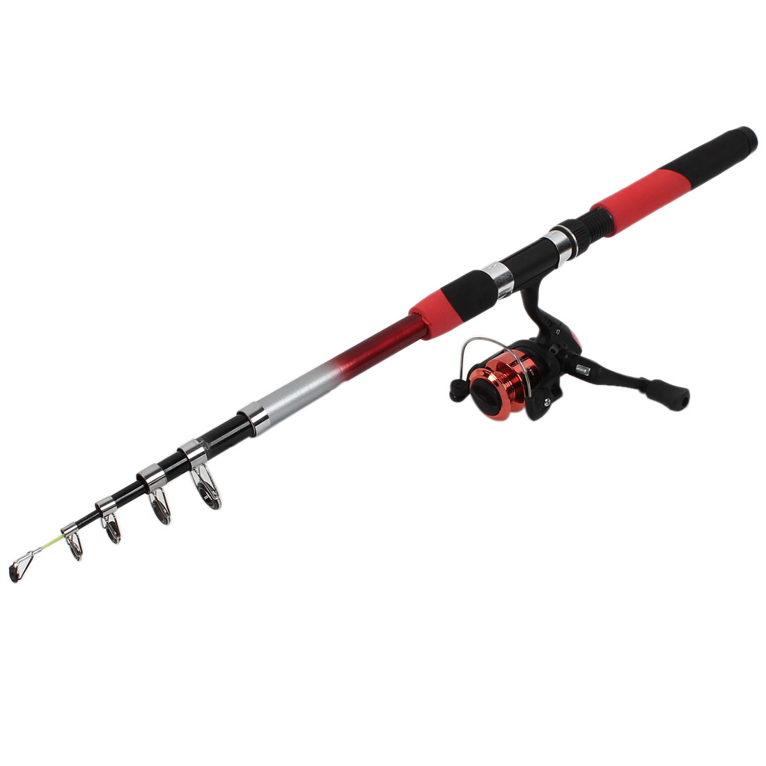 Telescopic 2.7M Long 6 Sections Fishing Rod Spinning Reel Fish Tackle Set