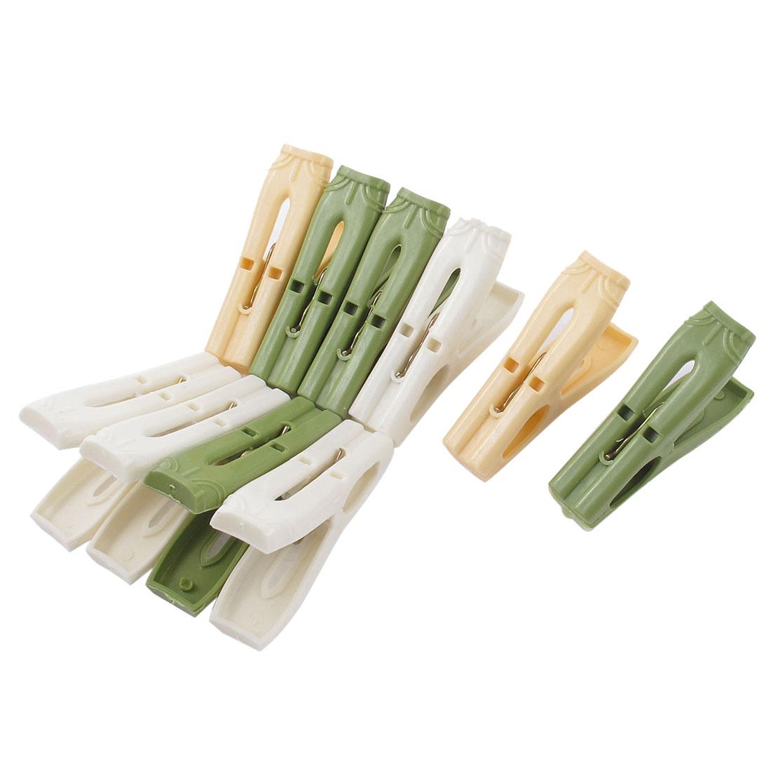 Home Spring Loaded Towl Socks Clothes Clip Clothespin Pegs 10 Pcs Multicolor