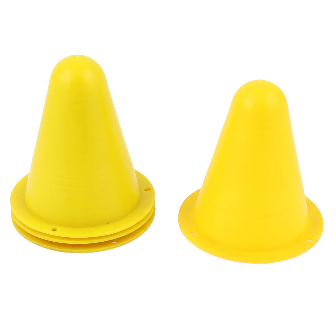 Roller Skating Soccer Rugby Cone Pile Mini Road Obstacles Roadblocks Yellow 4pcs
