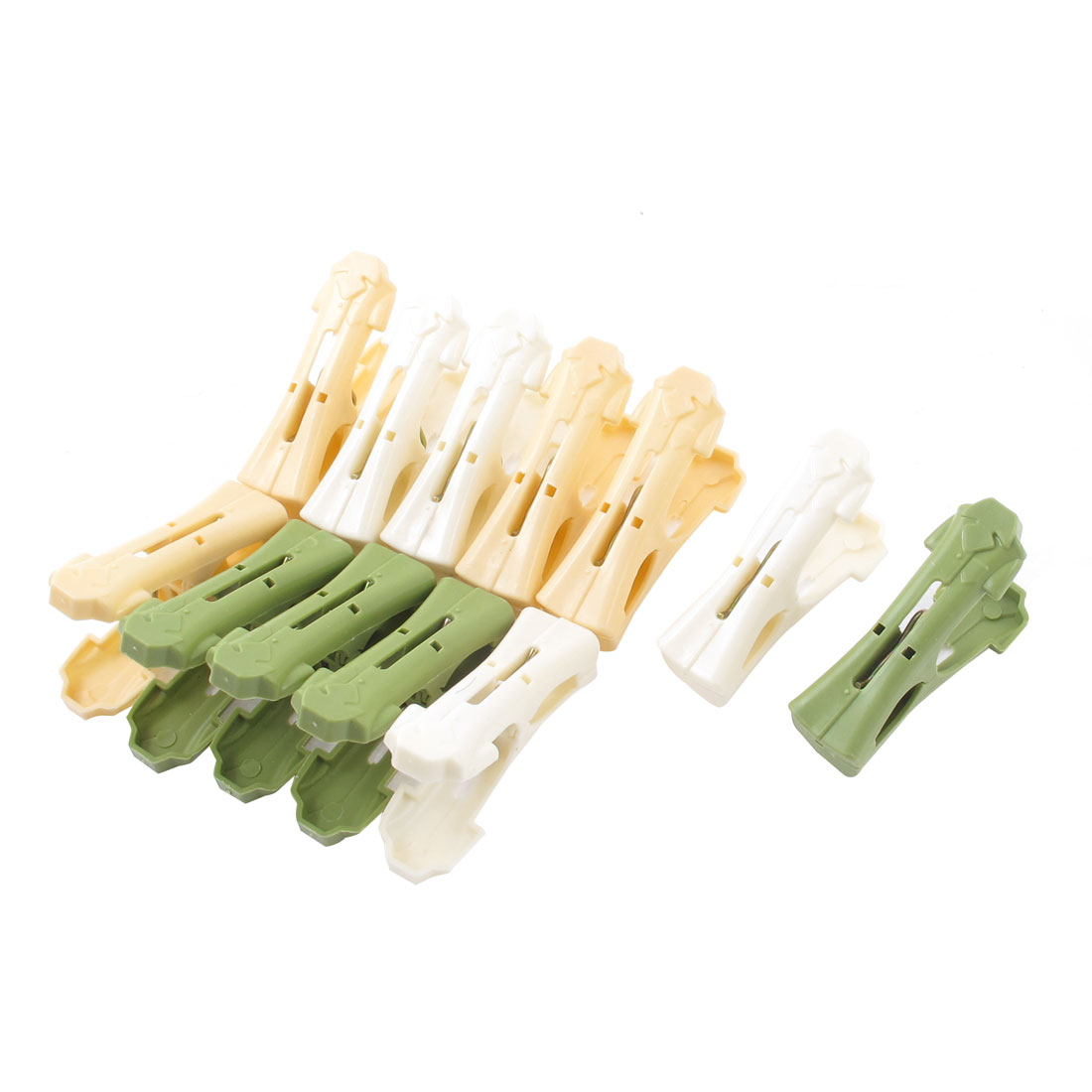 House Spring Loaded Towl Socks Hanging Clothes Clip Pegs 12 Pcs Assorted Color