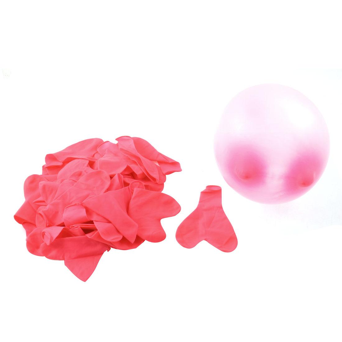 Latex Heart Shape Balloons Wedding Party Birthday Anniversary Decor 41 Pcs Pink