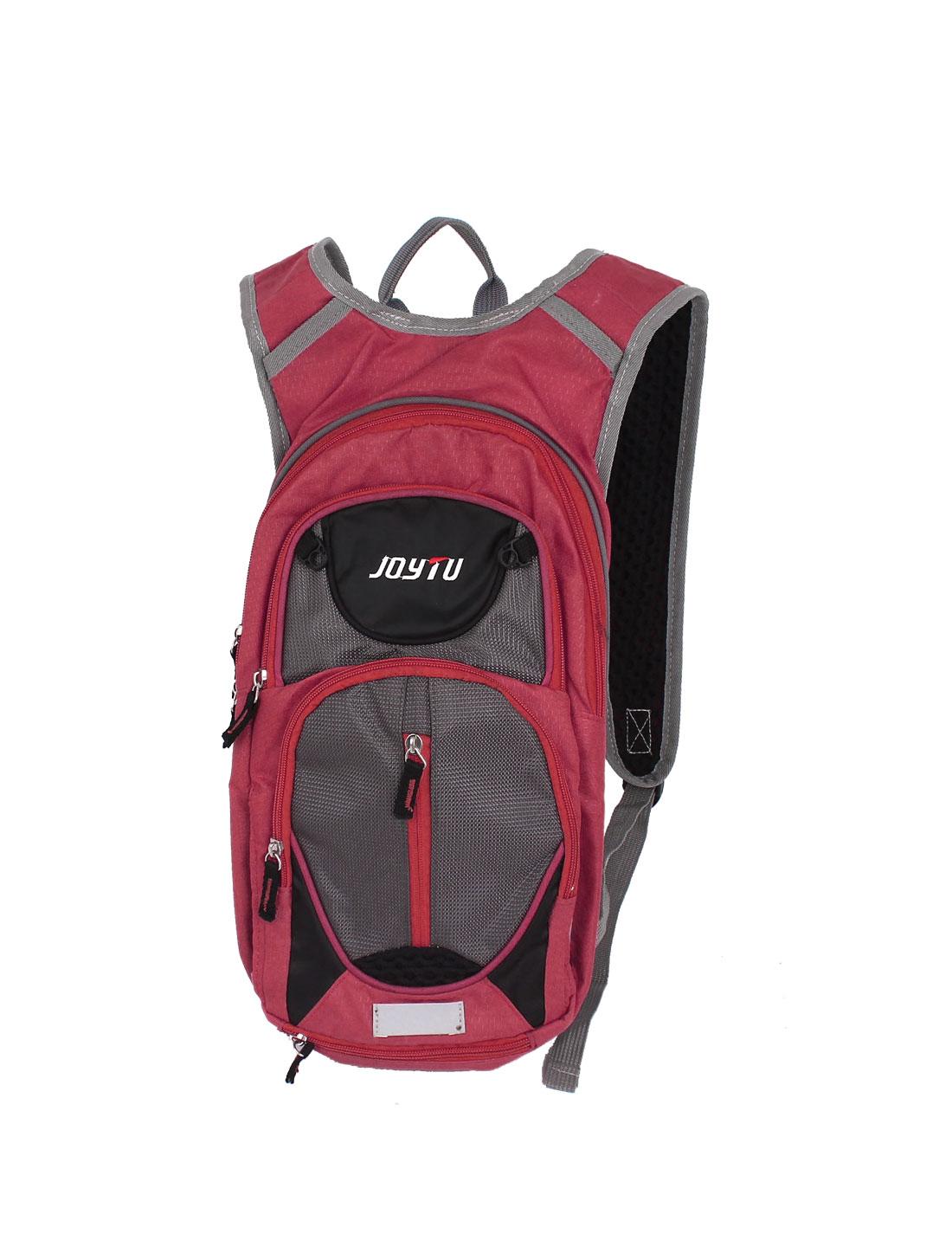 Mens Hiking Camping Travel Nylon Shoulder Satchel Backpack Rucksack Bag Red