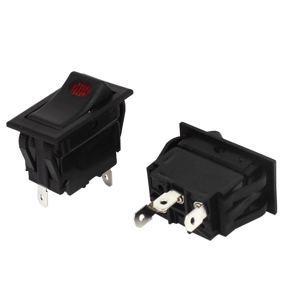 Switches Control 12V 35A Auto HeadLight Rocker Switch 3 Pins 2 Pcs