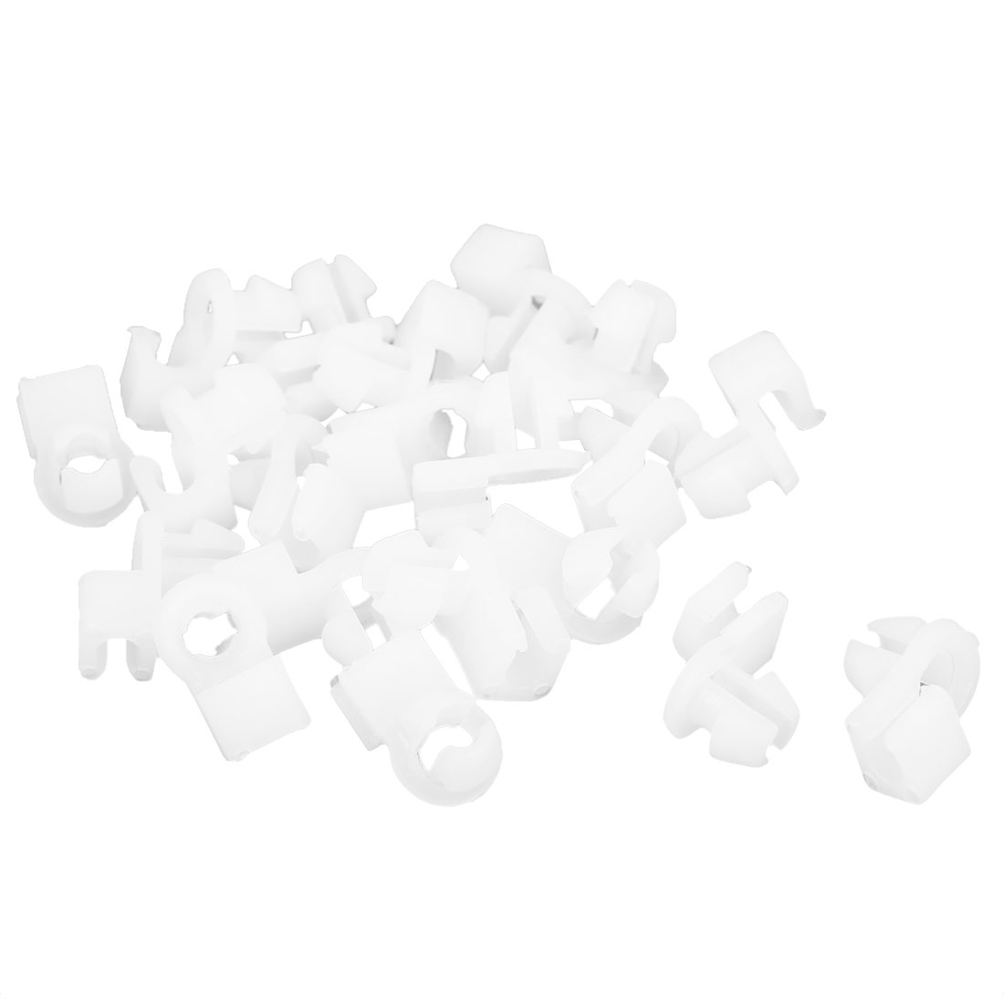20 Pcs White Plastic Rivet Fastener Mud Flaps Bumper Fender Clips for 4mm Hole