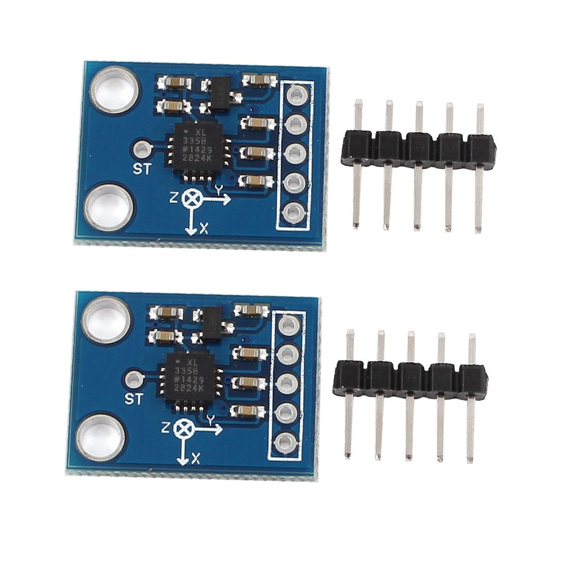 2pcs GY-61 ADXL335 Module 3-axis Analog Output Accelerometer Angular Transducer