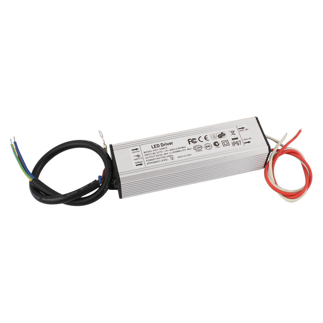 AC 85-277V to DC 24-38V 50W Waterproof Power Supply Driver for LED Strip Light